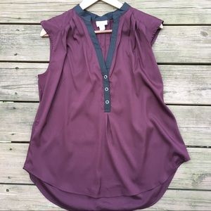 Burgundy and black sleeveless top